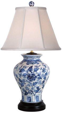 East Enterprises Blue and White Table Lamp - Blue and White Table Lamps - Deep Discount Lighting White Sofa Table, Sofa Table Decor, Blue Table Lamp, Table Lamps, Blue And White Lamp, White Lamps, Painting Lamps, Objet D'art, White Decor