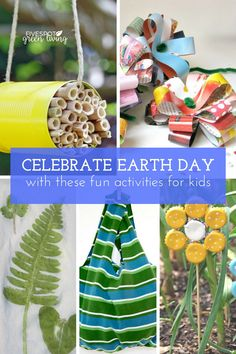 Celebrate Earth Day with these activities for kids #earthday #activities