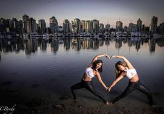 L O V E this city we live in // @schun + @sandragon21 living with passion in Vancouver, Canada // Wearing the High Rise Matte Black Legging and the Dutchess Sports Bra