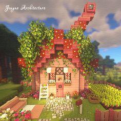 Minecraft House Tutorials, Minecraft Castle, Cute Minecraft Houses, Minecraft Plans, Minecraft House Designs, Amazing Minecraft, Minecraft Tutorial, Minecraft Blueprints, Minecraft Crafts