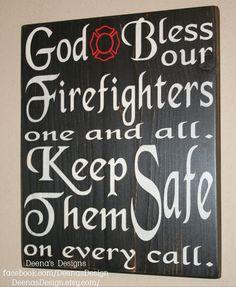 Firefighter Distressed Wall Hanging by DeenasDesign, $36.00 - https://www.facebook.com/DeenasDesign