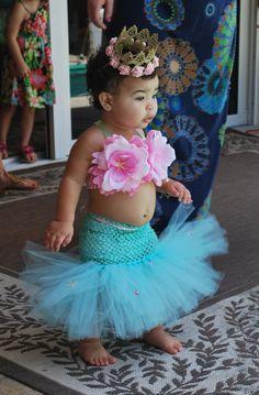 Mermaid Tutu, Mermaid, Little Mermaid, Mermaid Costume, Ocean Theme, Beach Birthday, Mermaid Party, Baby Bikini, OOC, Halloween Costume