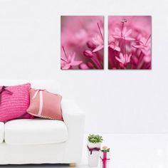 BPAGO-Wall Art Print Paintings Pink Fresh Flowers Stretch…