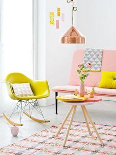 HappyModern.RU | Персиковый цвет (52 фото): яркие фруктовые всплески в интерьере | http://happymodern.ru