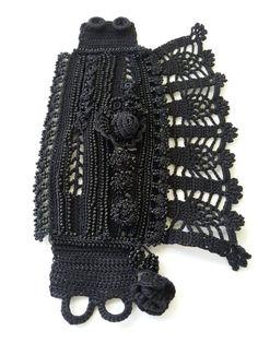 Crochet cuffCrochet braceletVersailles style Marie by SESIMTAKI
