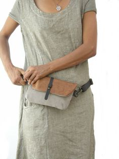 Hip Bag Fanny Pack Leather and Canvas Traveler Bag Utility Hip Belt Hip Pouch -- Check out the image by visiting the link. Leather Craft, Leather Bag, Sewing Leather, Leather Handbags, Brown Leather, Bum Bag, Handmade Handbags, Clutch, Shoulder Purse