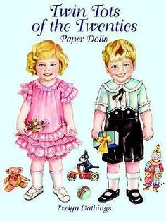 Twin Tots of The Twenties Paper Dolls ORIGINAL Artwork by  Evelyn Gathings Reproduction 2000  COVER ONLY
