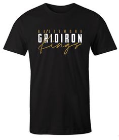 Baltimore Gridiron Kings Football Fans impressive T Shirt Football Fans, Comfortable Outfits, Baltimore, Types Of Shirts, Mens Tops, T Shirt, Clothes, Women, Fashion