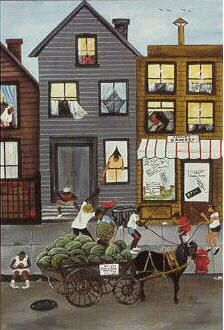Sweet and Juicy by Annie Lee depicts a street scene of a watermelon cart. Shop for high-quality Annie Lee prints and posters and African American art to decorate African American Artwork, African American Culture, American Artists, Annie Lee, Art Brut, Black Artwork, Afro Art, Black Artists, Naive Art
