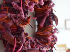 halbachblog I DIY-Idee I Herbst I Kranz aus geknoteten Bändern
