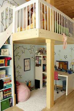 Baby girl's loft bedroom