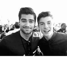 So my sister really likes rajiv dhall (left) and i really like shawn mendes(right) and i was in complete awe when i saw a picture of the two of them together!! ❤