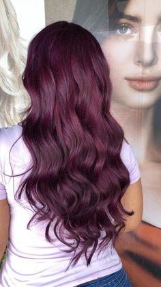 Gorgeous Hair Color, Hair Color Purple, Hair Dye Colors, Hair Color For Black Hair, Cool Hair Color, Aubergine Hair Color, Box Hair Dye, Dyed Hair, Pelo Color Vino
