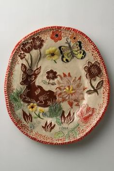 Ceramic Plate by Nathalie Lete