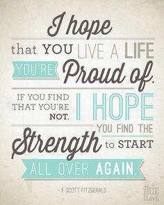 F. Scott Fitzgerald inspirational poster