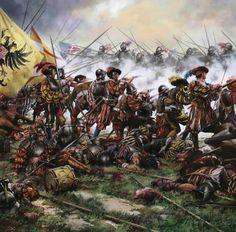 Spain / Battles, Knights.. La batalla de Pavía tuvo lugar el 24 de febrero de 1525 , en la ciudad de Pavia, entre el ejército francés al mando del rey Francisco I y las tropas imperiales españolas del emperador Carlos V , con victoria de estas últimas.