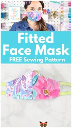 How to Sew a Bias Tape Surgical Face Mask with Flexible Nose | Sweet Red Poppy Learn How to Easily Sew a Fitted Surgical Face Mask With Ties and Flexible Nose Piece With This Step-By-Step Tutorial With Video<br> Learn to sew a Close-Fitting Cotton Face Mask with Bias Tape or Elastic and a Flexible Nose Wire. A tutorial featured by Sweet Red Poppy. Click here now!! Easy Sewing Projects, Sewing Projects For Beginners, Sewing Tutorials, Dress Tutorials, Sewing Tips, Sewing Hacks, Sewing Lessons, Sewing Basics, Sewing Ideas