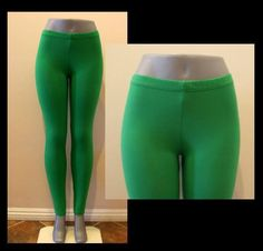 KELLY GREEN PANT LEGGINGS STRETCH WORKOUT HALLOWEEN S, M, L, XL, 2X, 3X PLUS in Clothing, Shoes & Accessories, Women's Clothing, Leggings | eBay
