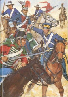 Clash between Mexican Cavalry and US Dragoons Battle of Resaca de la Palma Mexican Army, Mexican American War, American History, Military Love, Military Art, Military History, Vintage Military Uniforms, Native American Models, American Uniform