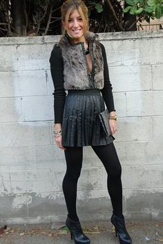Faux Fur + Leather  , 2b by bebe in Jackets, Bakers in Ankle Boots / Booties, Forever21 in Socks / Tights, 2b by bebe in Jewelry, Michael Kors in Watches, Storets in Skirts