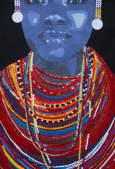 woman with beads by Jenn Bell Australian People, Australian Artists, Security Envelopes, Beaded Jewellery, Buy Art Online, How To Make Beads, Beautiful Artwork, Circles, Goal