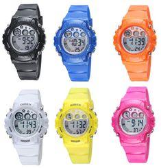 Reloj de Deportes A Prueba de Digital de Silicona Para Mujer Hombre Niña y  Niño d7c68e815c8a