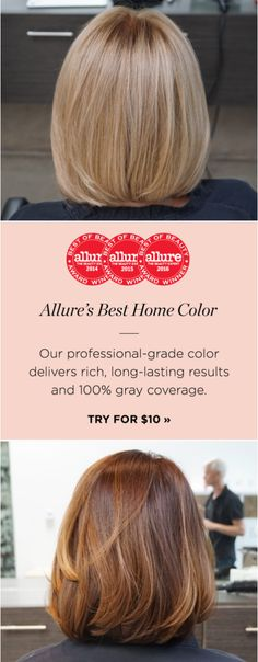 """Allure reveals its pick for Best Home Hair Color: """"The finished result was so flattering and natural, it was like the shade was made for us... because it was."""""""
