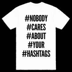 I hate hashtags!