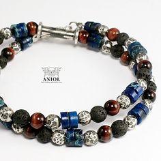 Na szyję lub na rękę - LAZUROWE / Anioł / Biżuteria / Dla mężczyzn