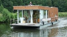 Unusual house plans square measure good for little, cool house plans and styles. They supply an original outlet that you just will decision home Plywood Boat Plans, Wooden Boat Plans, Water House, Boat House, Minecraft, Tiny House Blog, Classic Wooden Boats, Diy Boat, Floating House