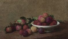 HENRI FANTIN-LATOUR (1836-1904) Henri Fantin Latour, Rare Wine, James Mcneill Whistler, Gustave Courbet, Flower Sketches, Prune, Fantasy Paintings, Painting Still Life, Art Market
