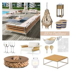"""""""SS16 Outdoor and Garden Furniture"""" by thehouseologists ❤ liked on Polyvore featuring interior, interiors, interior design, home, home decor, interior decorating, Ethimo, AK47, Gloster and Lene Bjerre"""