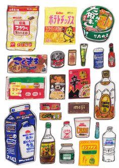 食べ物をテーマにプラバンで描いています。(その1)