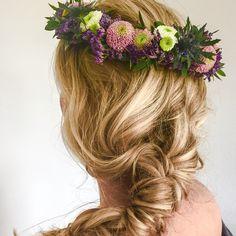 Boheme wedding hair