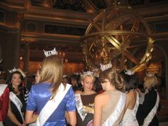 At the Venetian Las Vegas: Hannah Kiefer (VA), Kristen Mantooth (MT), all the way in the back is Shana Powell (MD). Can anyone I.D. the contestants whose backs are turned?