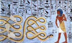 Atum warding off Apophis