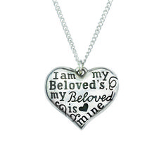 I Am My Beloved's Sterling Silver Heart Necklace – Beattitudes Religious Gifts