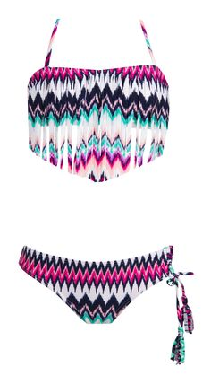 Roxy Girls Dream Catcher Fringe Bandeau Bikini Set | SundanceBeach.com