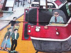 Mural do TTC em Roncesvalles Village ... http://www.mikix.com/transporte-publico-em-toronto/