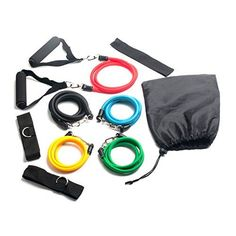 Baytter RESISTANCE Physio GYM Workout FITNESS BANDS *MAX TENSION Set (75 lbs.) with 5 anti-snap exercise tubes 11 PCS Kit Gym Home HOT ABS Baytter http://www.amazon.co.uk/dp/B00OFU4XOK/ref=cm_sw_r_pi_dp_RoyFub12TQSTD
