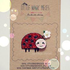 Little Ladybug Hair Clip by Little Magic Pieces