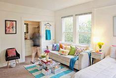 Sala pequena - cores - ACHADOS DE DECORAÇÃO - blog de decoração