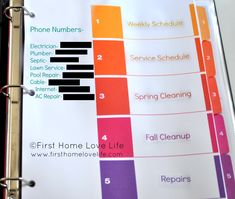 to be Organized Home Maintenance Binder! Making this asap!Home Maintenance Binder! Making this asap! Planners, Home Maintenance Schedule, Be Organized, Organised Life, Staying Organized, Fall Clean Up, Household Binder, Household Notebook, Home Binder