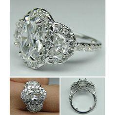Vintage Oval Diamond Engagement Ring