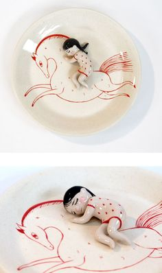 Ceramic sculptures by Lena Guberman
