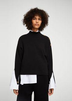 Side snap sweater - Woman   MANGO Greece