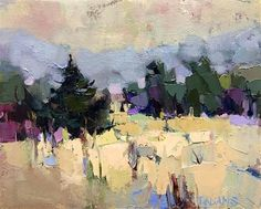 "Daily Paintworks - ""Cool Landscape"" - Original Fine Art for Sale - © Trisha Adams"