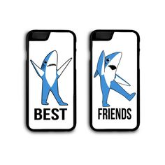 Superbowl Left Shark Right Shark Best Friends and Couples Customizable Phone Case Pair by SnarkySharkStudios Bff Cases, Iphone 5 Cases, Cute Cases, Cool Phone Cases, Phone Covers, Iphone 4, Best Friend Goals, Best Friends, Left Shark
