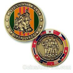 Vietnam War Geocoin - Bronze