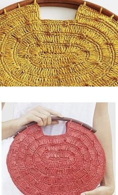 Crochet Handbags, Crochet Purses, Crochet Bags, Love Crochet, Knitted Bags, Knit Crochet, Crochet Accessories, Bag Accessories, Crochet Designs